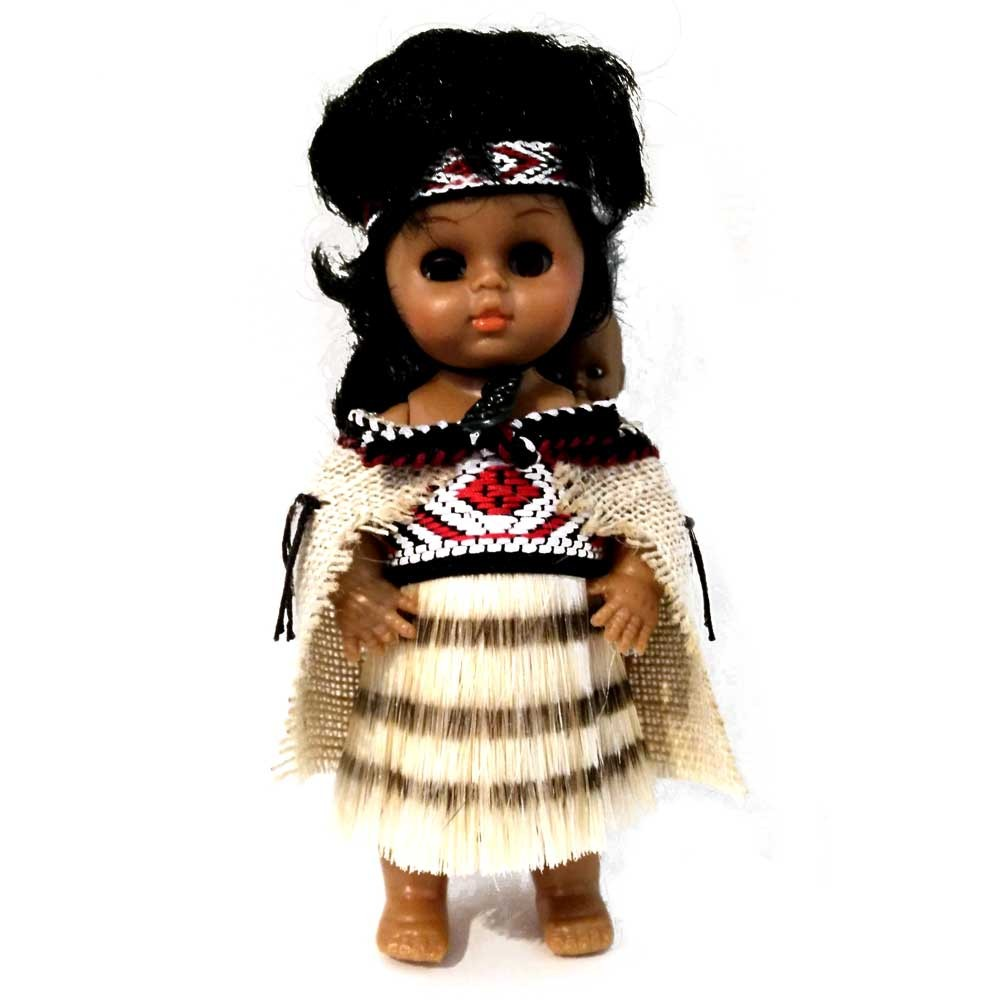 Authentically Clothed New Zealand Maori Wahine Doll With