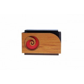 Rimu Desk Top Business Card Holder - Koru