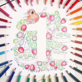 Kuwi The Kiwi's Creative Colouring Book For Big & Small People