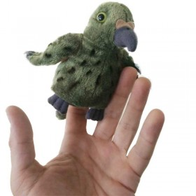 Native New Zealand Kea Bird Finger Puppet