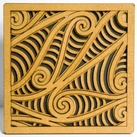 Wooden Rua Tile Art