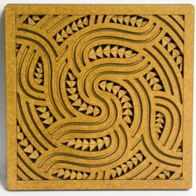 Wooden Wha Tile Art