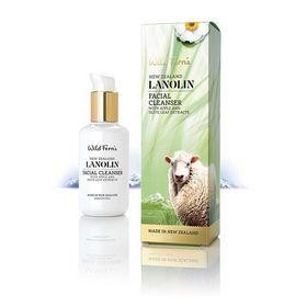 Wild Ferns New Zealand Lanolin Facial Cleanser with Apple & Olive Leaf 140ml