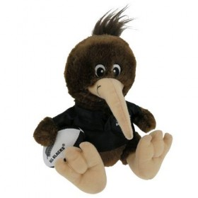 All Black Kiwi Player Soft Toy with Real Haka Sound