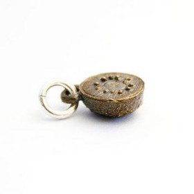 Brass Kiwi Fruit Charm