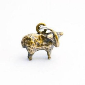 Brass Sheep Charm
