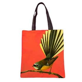 Bright New Zealand Fantail Tote Bag