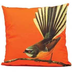 Bright New Zealand Fantail Cushion Cover