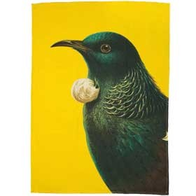 Bright New Zealand Tui Tea Towel