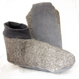 Grey Toastie Adult Sheepskin Slippers