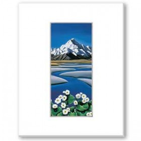 Mount Cook by Diana Adams Matted Print