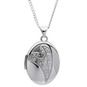 Sterling Silver Koru Fern Locket Pendant