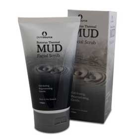 Mud facial scrub
