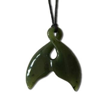 Jade Whale Tail Pendant Silverfernz Com